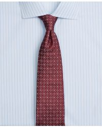 Brooks Brothers - Red Satin Medallion Tie for Men - Lyst