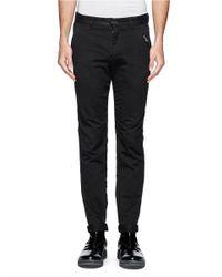 The Viridi-anne - Black Twill Skinny Pants for Men - Lyst