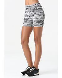 Bebe - Green Camo Print Shorts - Lyst