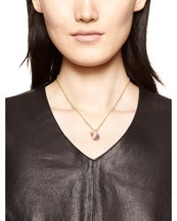 kate spade new york - Metallic Lovely Lillies Beaded Long Wrap Necklace - Lyst