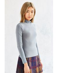 Silence + Noise - Gray Bianca Turtleneck Top - Lyst