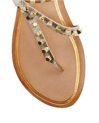 Dolce Vita | Metallic Rosario Studded Leather Sandals | Lyst