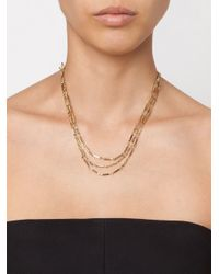 Eddie Borgo - Metallic Multi Strand Bar Necklace - Lyst