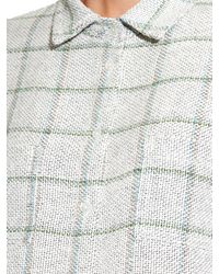 Wes Gordon - Blue Camp Checked Tweed Shirt - Lyst
