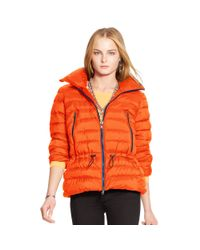 Ralph Lauren | Orange Mockneck Down Jacket | Lyst