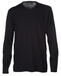 Velvet By Graham & Spencer Black Crew Neck Tshirt for men