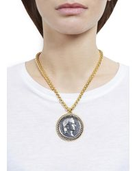 Kenneth Jay Lane - Metallic Gold Plated Coin Necklace - Lyst