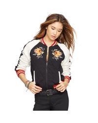 Denim & Supply Ralph Lauren - Black Quilted Baseball Jacket - Lyst