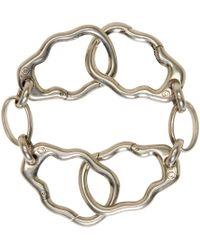 Alexander McQueen - Metallic Silver Skull Link Bracelet for Men - Lyst