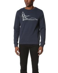 Carven - Blue Long Sleeve Sweatshirt for Men - Lyst