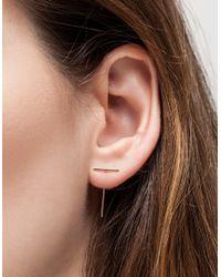 Kathleen Whitaker | Metallic Staple & Loop Earring | Lyst