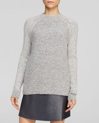 Vince | Gray Sweater Seed Stitch Crew | Lyst