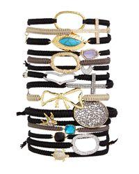 Tai - Brown Set Of Three Cord Bracelets - Lyst