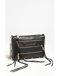 Rebecca Minkoff - Black 'mini 5 Zip' Convertible Crossbody Bag - Lyst