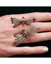 Wendy Yue Metallic Double Dragonfly Ring