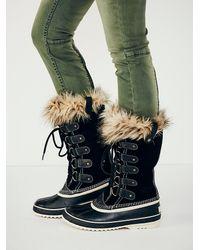 Free People Black Joan Arctic Weather Boot