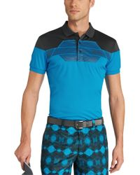 """BOSS Green - Blue \""""modern Fit, Golf Polo 'paddy Pro 3' With Moisture Manager And Uv Protection\"""" for Men - Lyst"""