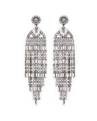 Kenneth Jay Lane   Metallic Crystal Waterfall Earrings   Lyst