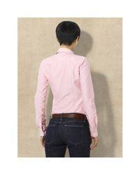 Ralph Lauren Blue Label | Pink Solid Oxford Shirt | Lyst