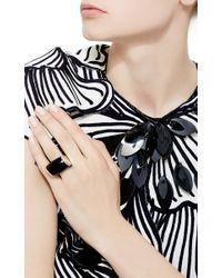 Vhernier Black Plateau Onyx Diamond Ring
