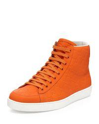 Gucci - Orange Brooklyn Ssima Hightop Sneaker for Men - Lyst
