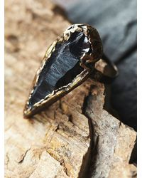 Free People - Black Abyss Arrowhead Ring - Lyst