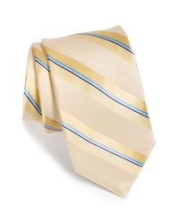 Michael Kors - Yellow 'shudder' Stripe Silk Tie for Men - Lyst
