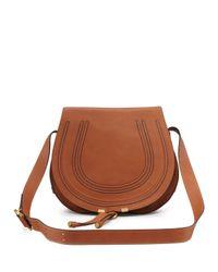 Chloé | Brown Marcie Medium Leather Crossbody Bag | Lyst
