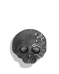 David Yurman | Metallic Waves Large Skull Ring for Men | Lyst