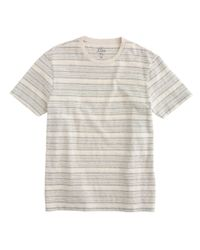 J.Crew - Gray Textured Cotton T-shirt In Multistripe for Men - Lyst