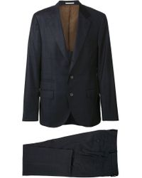 Brunello Cucinelli - Blue Checked Two-piece Suit for Men - Lyst