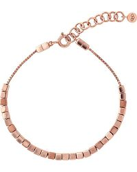 Links of London | Pink Cubist Rose Gold Vermeil Bracelet | Lyst