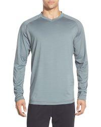 Rhone - Blue Sentinel Long-Sleeved Training T-shirt for Men - Lyst