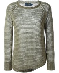 Polo Ralph Lauren - Natural Slim Cable Cashmere Sweater - Lyst