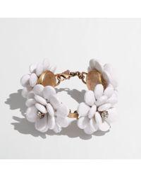 J.Crew | White Factory Bloom Bracelet | Lyst