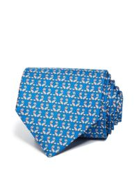 Ferragamo | Blue Fox With Bow Tie Classic Tie for Men | Lyst