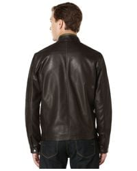 Perry Ellis | Brown Faux-leather Bomber Jacket for Men | Lyst