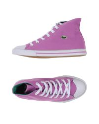Lacoste Sport - Purple High-tops & Trainers - Lyst