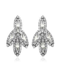 Elizabeth Cole | Metallic Hematiteplated Swarovski Crystal Mohawk Earrings | Lyst