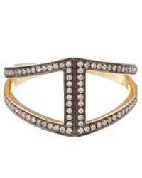 Noor Fares Metallic Gold Rhombus Diamond Ring