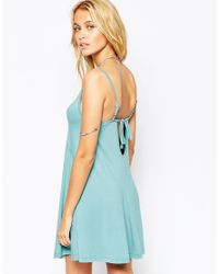 ASOS - Blue Swing Sundress With Open Back - Lyst