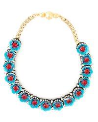 Shourouk | Blue 'daisy' Necklace | Lyst