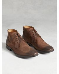 John Varvatos | Brown Dylan Calfskin Chukka Boots for Men | Lyst