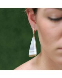Pamela Huizenga | Metallic Stripe Agate Earrings | Lyst