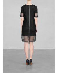 & Other Stories Black Mesh Dress