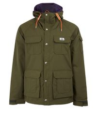 Penfield Green Olive Vassan Hooded Parka Jacket for men