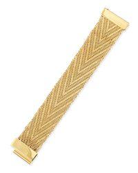 Givenchy | Metallic Golden Flat-chain Bracelet | Lyst