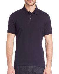 Ferragamo - Blue Soft Cotton Polo for Men - Lyst