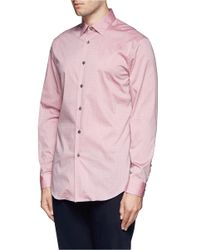 Paul Smith - Red Mini Dot Print Poplin Shirt for Men - Lyst
