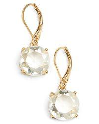 Anne Klein Metallic Stone Drop Earrings